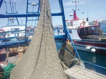 La mucillagine sulle reti da pesca. Siamo nel porto di Gallipoli