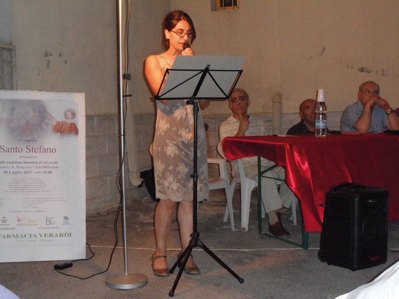 Maria Rosaria Ponzetta recita il brano di L  Crudo