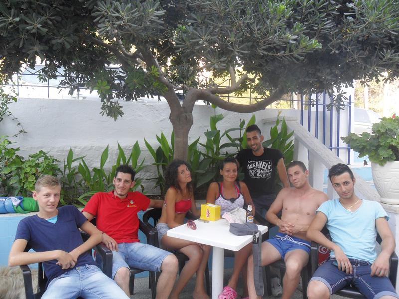 turisti al mare