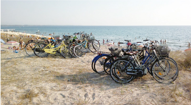 bici spiagge gallipoli