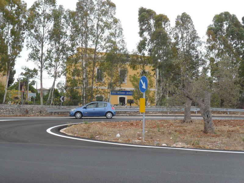 La nuova rotatoria nei pressi della stazione delle Fse