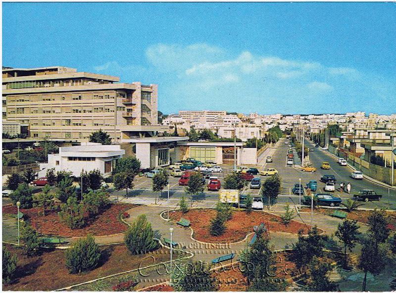 ospedale e via circonvallazione - foto 1975 di marco stefano da carusa.it - casarano