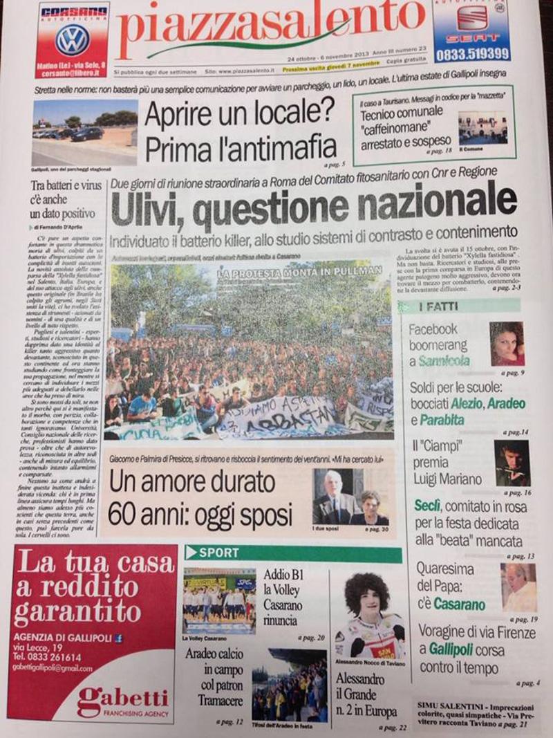 prima pagina piazzasalento