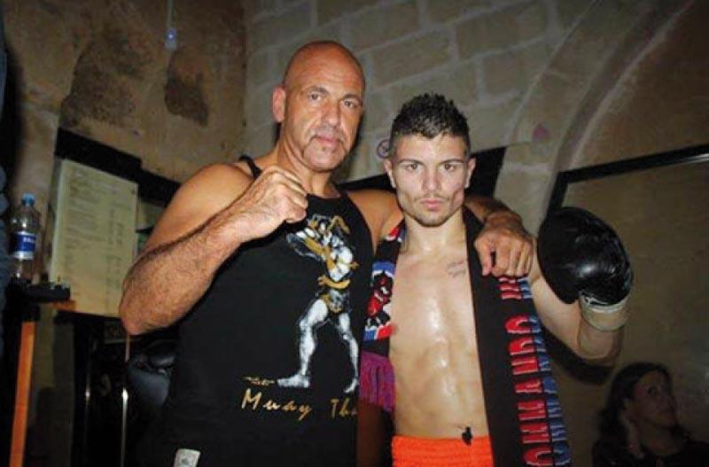 Il giovane Matteo De Rosa e il maestro ugentino Mino Conte