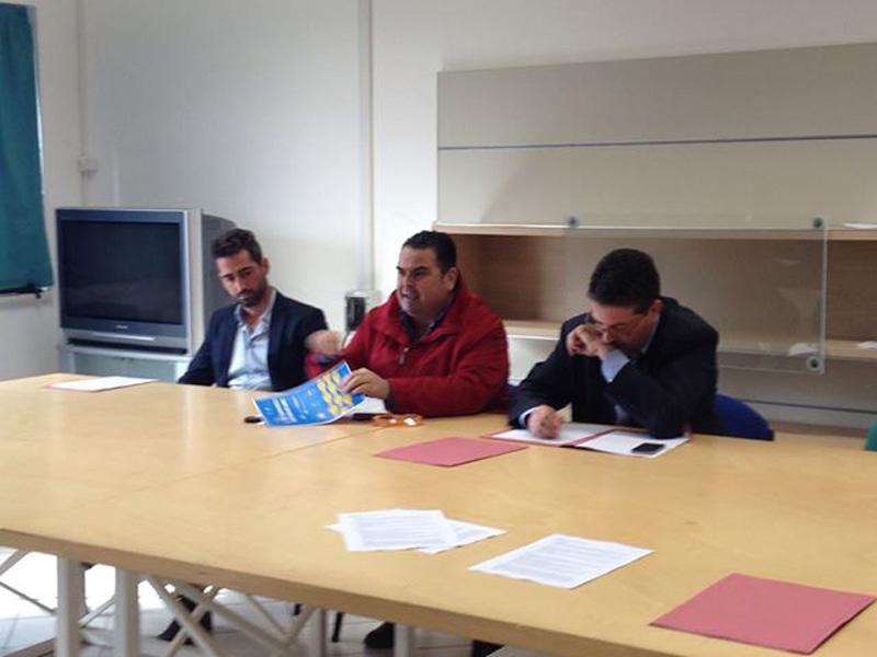 Da sinistra: Angelo Ria, il sindaco Francesco Errico, Attilio Caroli Caputo