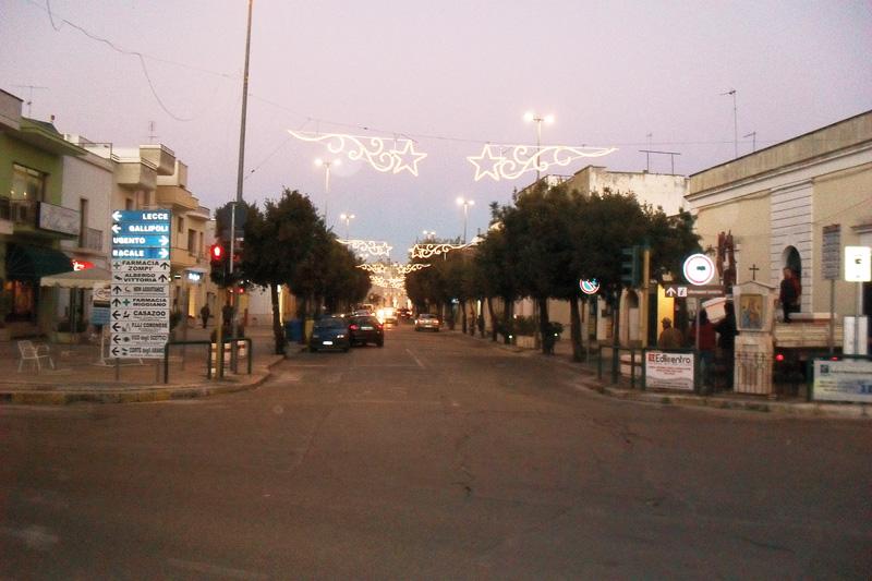 corso di Taviano illuminato