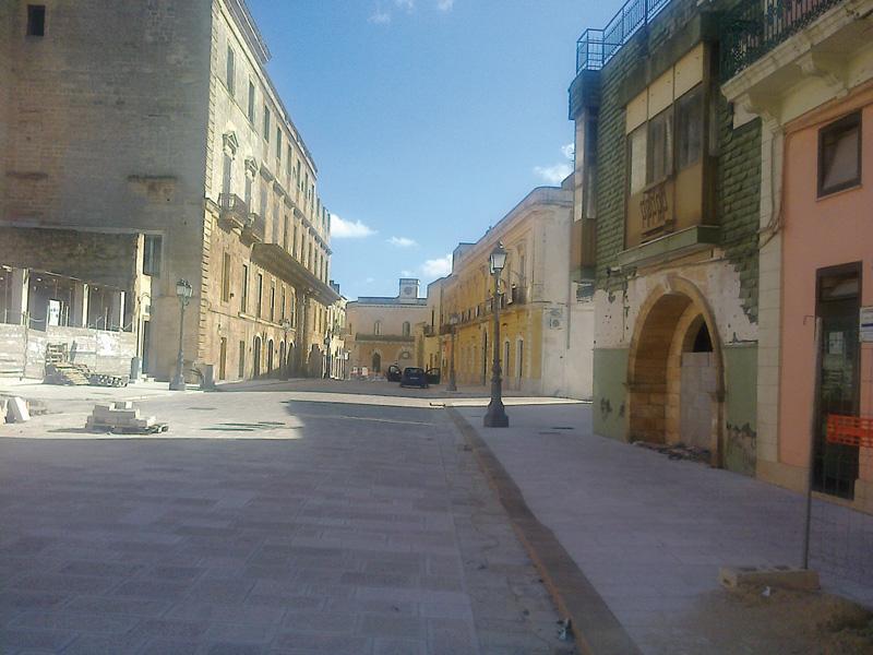 piazza garibaldi cantiere - casarano