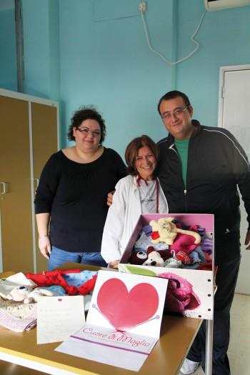 Ass. Piccoli Angeli - Da sin. Elvira Fedele, dott.ssa M.Antonnietta Pulito (V. Fazzi - Lecce) Marco Aggioli