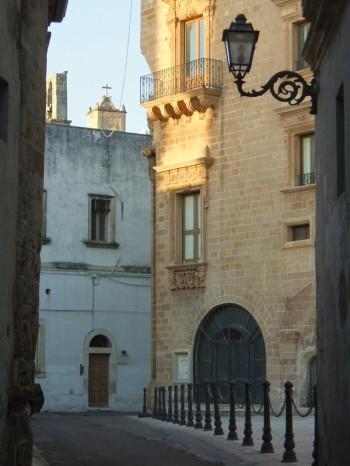 una veduta del centro storico di Galatone