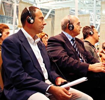 Livio Nisi (centro) all'ultimo presidio SlowFood che ha consacrato l'albicocca