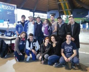 Pesistica Aradeo - Atleti e accompagnatori presenti ad Ostia