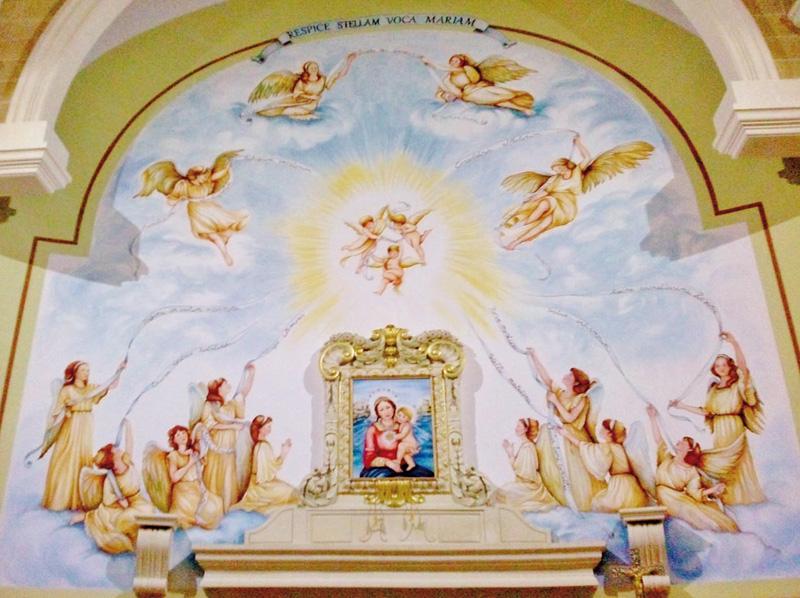 L'opera dell'artista  Freddiana Rainò nella chiesa della Marina