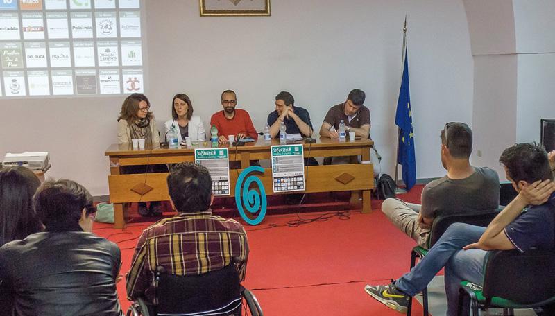 Nella foto di Roberto Corvaglia da sin.: Jolanda De Nola, Simona Palese, Cosimo Manfreda, Donato Metallo e Ivan Stomeo