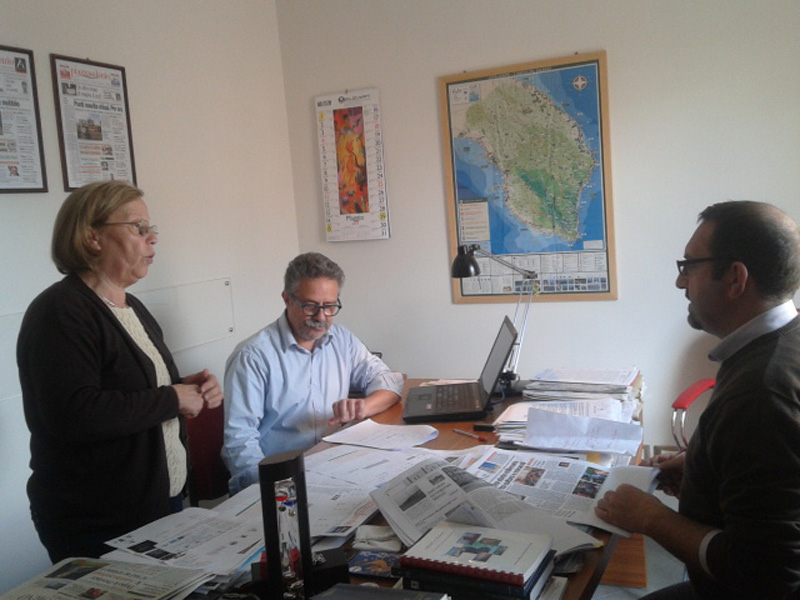 Da sinistra Maria Rosaria De Lumè, Fernando D'Aprile, Mauro Stefano