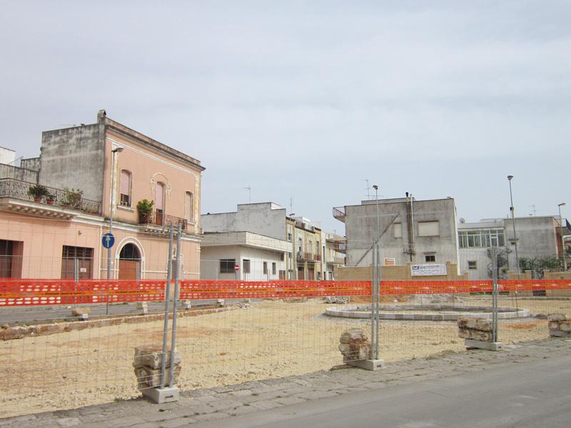 Il cantiere in via Tevere