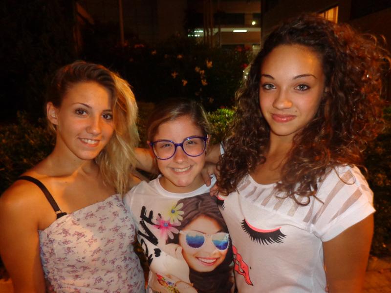 da sinistra, Gioia Fiore, Martina Carrozza ed Emily Perrone,