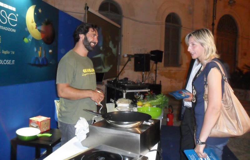 """Don Pasta e la dirigente del Gal """"Serre salentine"""" Alessia Ferreri"""