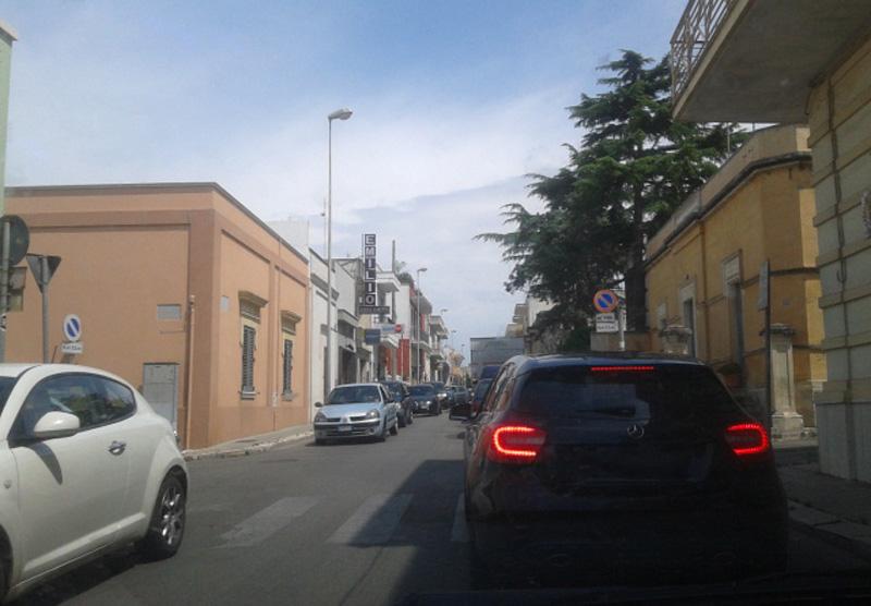 traffico corso XX settembre Casarano