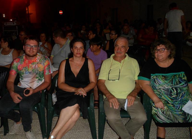 Da sinistra Gabriele Emiliano (videomaker), Esmeralda Custode (presidente Arthai), Giovanni Santi (presidente A Levante), Luigina De Prezzo (presidente Piccolo Principe)