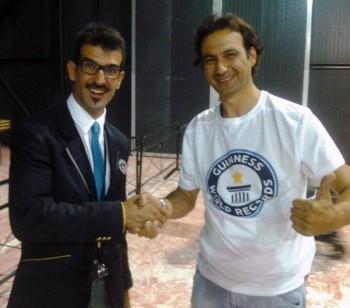 Luigi Stamerra con il giudice di gara Lorenzo Veltri