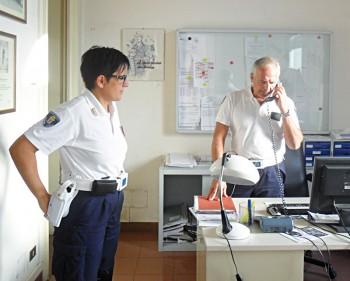 L'ex comandante Maria Elena Marti in ufficio