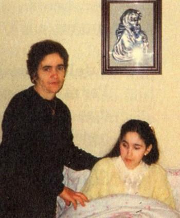 Mirella Solidoro con la madre