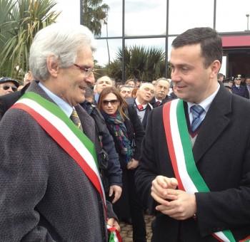 Da sinistra il sindaco di Taurisano Lucio di Secli e quello di Ugento Massimo Lecci