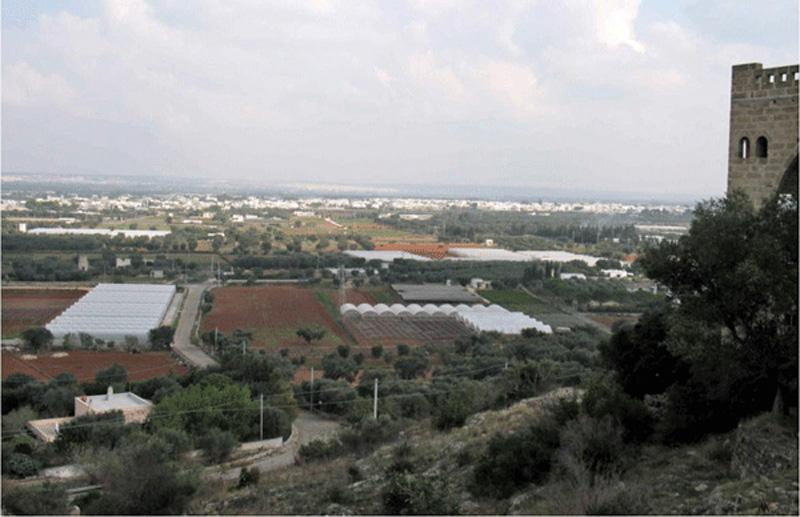 zona industriale taviano dall'alto