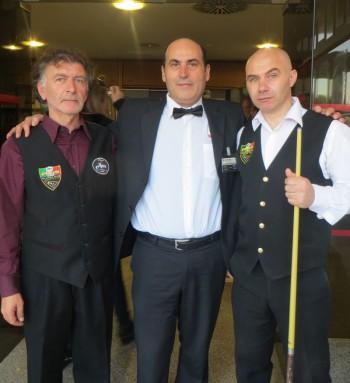 Da sinistra: Toni Padovano, Luigi Bramato e Emanuele Vincenti