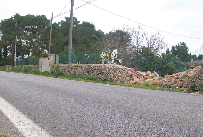 Ciò che resta dopo l'incidente del 6 gennaio 2011 sulla Casarano-Ruffano
