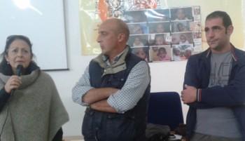 Da sinistra Enza Portoghese, Cesare Cafaro e Pierluigi, uno dei volontari