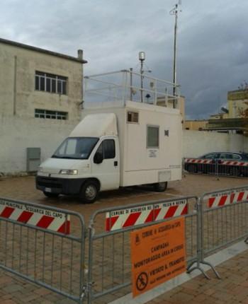 Centralina mobile Arpa monitoraggio dell' aria  Comune di Acquarica   dicembre 2013