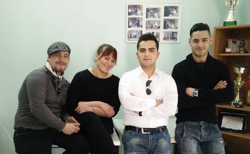 I quattro giovani volontari Fidas. Da sinistra:  Emanuele Petracca, Anna Lucia Gaetani, Manuel Gaetani, Lorenzo Marinosci