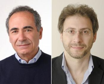 A sinistra il sindaco Riccardo Monsellato. Il consigliere Martino De Giorgi (a destra) mette in evidenza, tra le cose che non vanno, anche una comunicazione prevalentemente su Fb