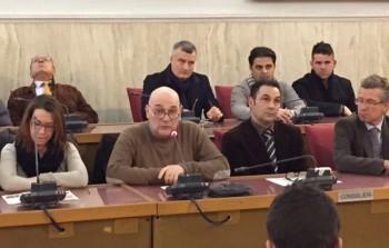 Mimino Caputo, il secondo da sinistra, con gli assessori Falangone e Natalizio