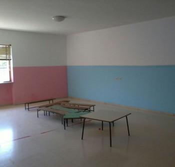 aula tinteggiata di fresco