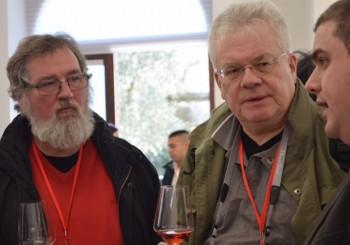 Damiano Calo' con i giornalisti stranieri