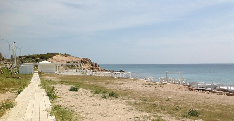 Un tratto del litorale di Ugento