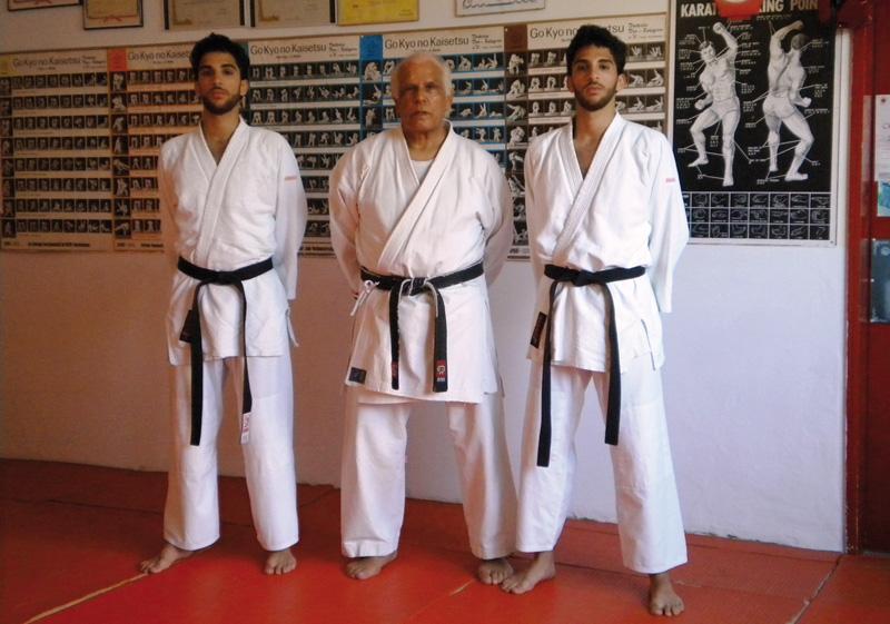 gemelli Vito e Andrea Ciullo e  il maestro Silvano Serrano.