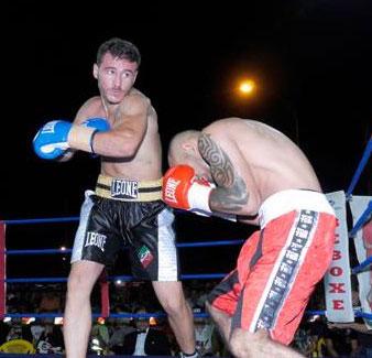 Andrea Manco contro Kiss il 5 settembre 2014 (foto Alberto Caputo Melissano)