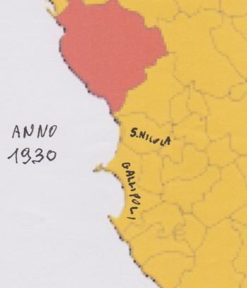 sannicola cartina 1930