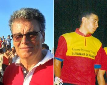 Da sinistra Giovanni Saccomanno e Vincenzo Nibali nel 2010 a Sannicola per una gara.