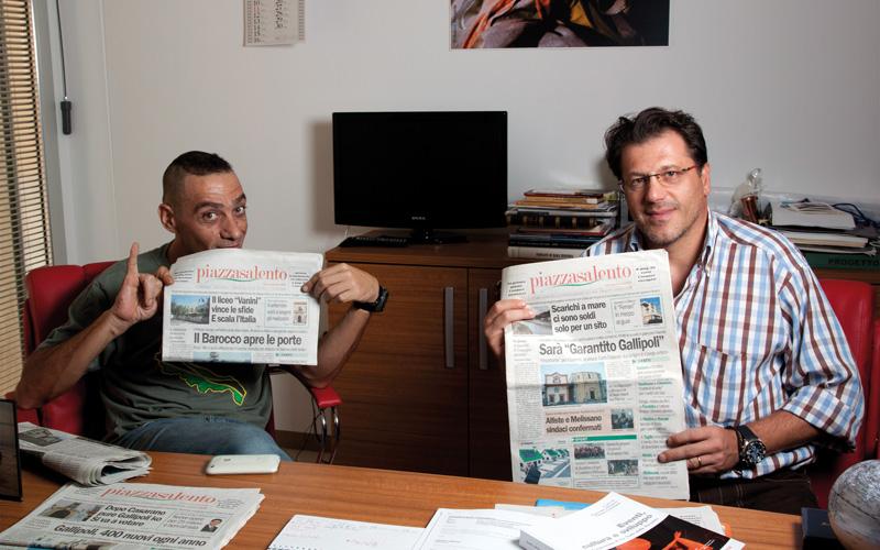 Nandu Popu e Mirko Grimaldi incontro in redazione 26-9-2011 (4)
