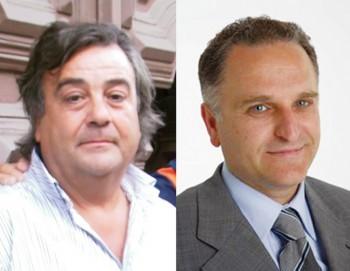 Da sinistra Antonio Costantino appena subentrato  a Giorgio Toma