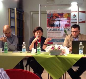 Da sinistra Graziano Scorrano, Daniela Talà e Patrizio Romano