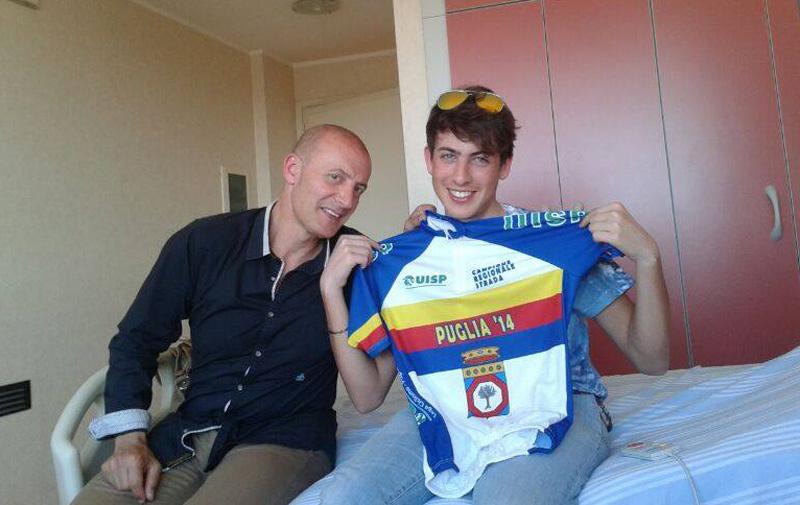 Walter, presidente della società sportiva, e Alessandro Greco