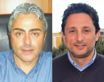 Il sindaco Cosimo Piccione e Danilo Scorrano