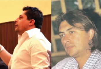 Luigi Caiffa (a sinistra) e Giancarlo Padovano i due  consiglieri Udc dell'ultima amministrazione guidata da Francesco  Errico