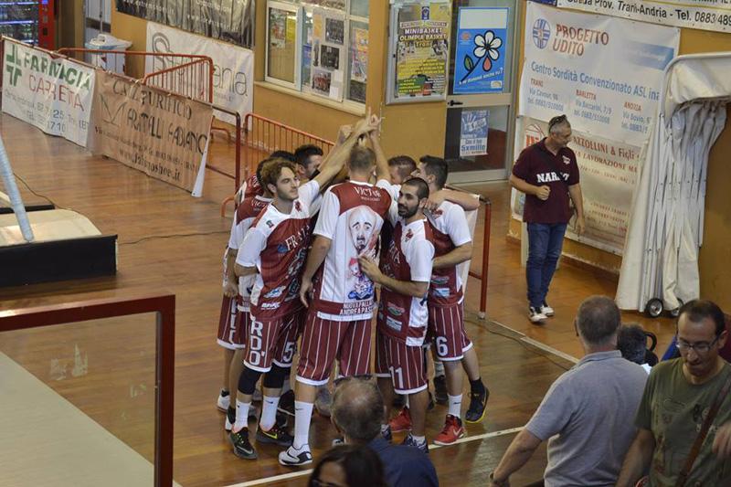 basket vittoria a Trani