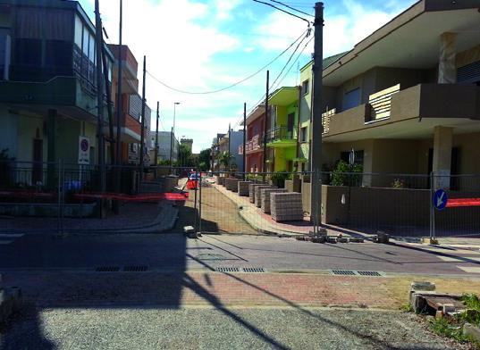 Pavimentazione in via Lopez